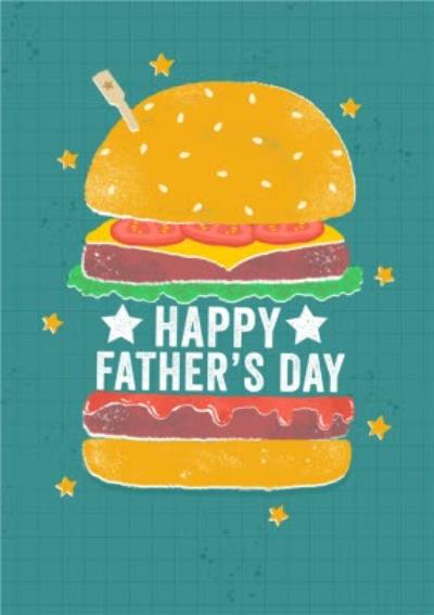 Illustrated Burger Happy Father's Day Card