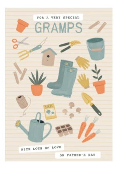 Illustrated Gardening Special Gramps Father's Day Card