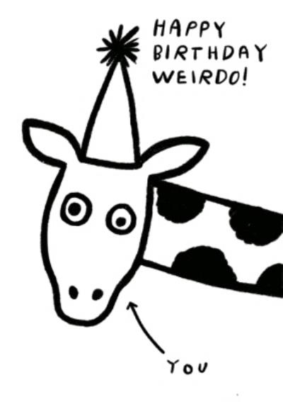 Pigment Happy Birthday You Weirdo Giraffe Card
