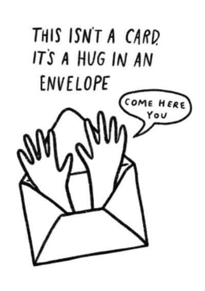 Pigment Hug In An Envelope Birthday Card