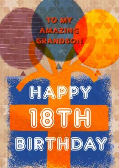 Balloons and Present Personalised Birthday Card
