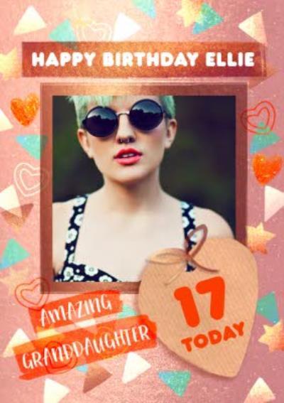 Photo Upload Amazing Granddaughter Birthday Card