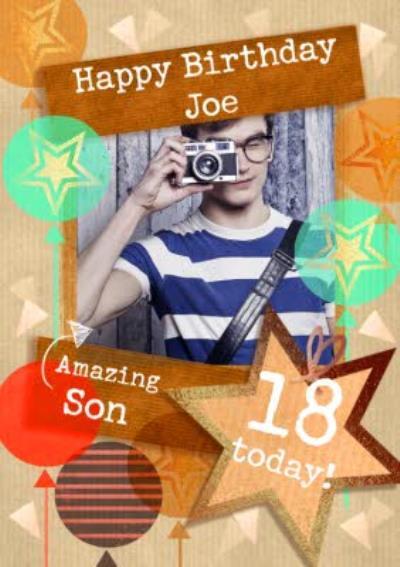 Amazing Son Photo upload Birthday Card