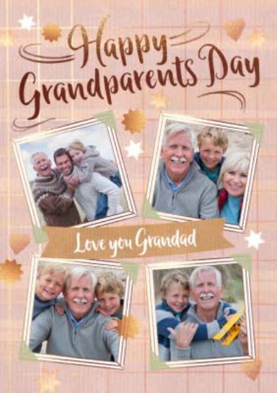 4 Photo Upload Grandparents Day Card For Grandad