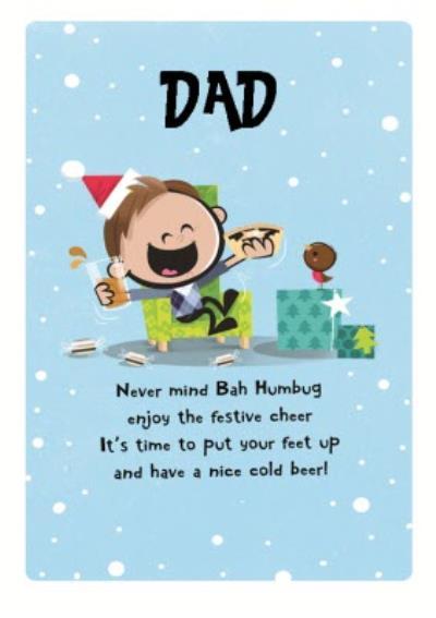 Dib Dab Happy Christmas Dad Card