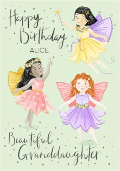 Fairies Birthday Card For Granddaughter