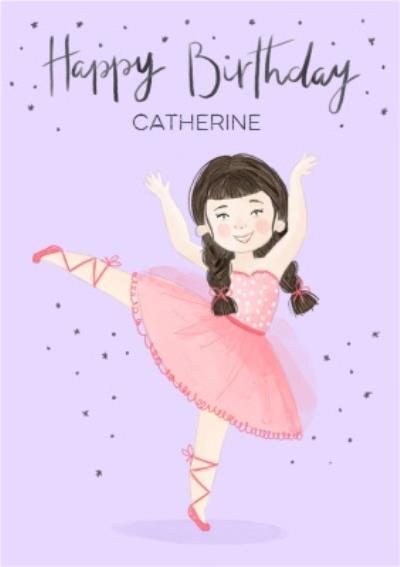 Beautiful Ballerina Birthday Card