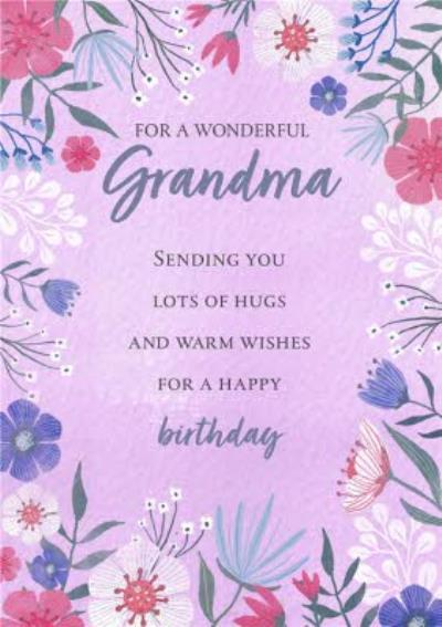 Floral Bouquet Amazing Wife Birthday Card