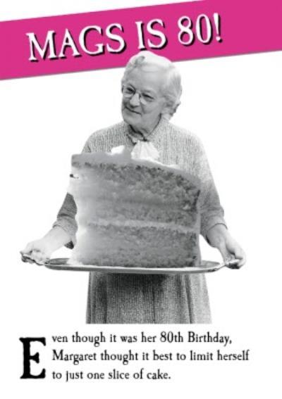 Funny Photo 80th Birthday Card