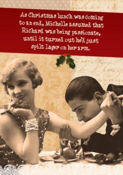 Christmas Lunch Comes To An End Funny Personalised Christmas Card