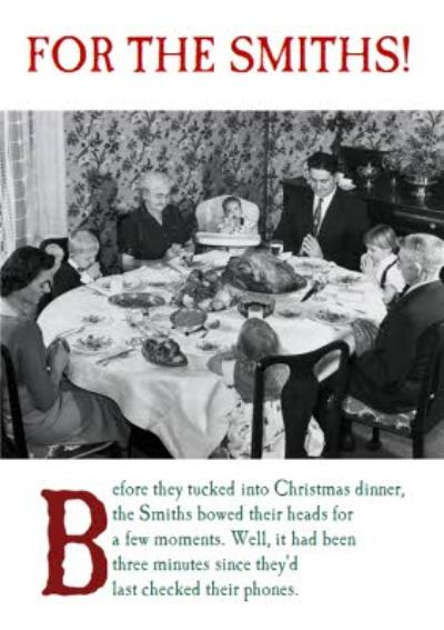 Before They Tucked Into Christmas Dinner Personalised Happy Christmas Card