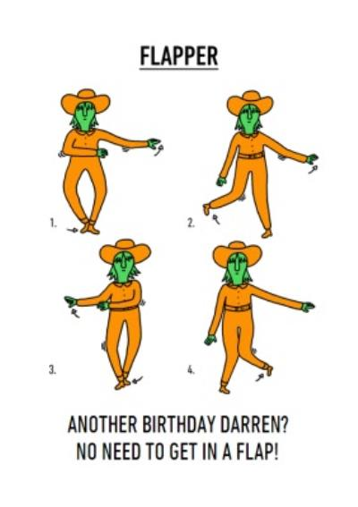 Video Game Dance Moves Flapper Birthday Card