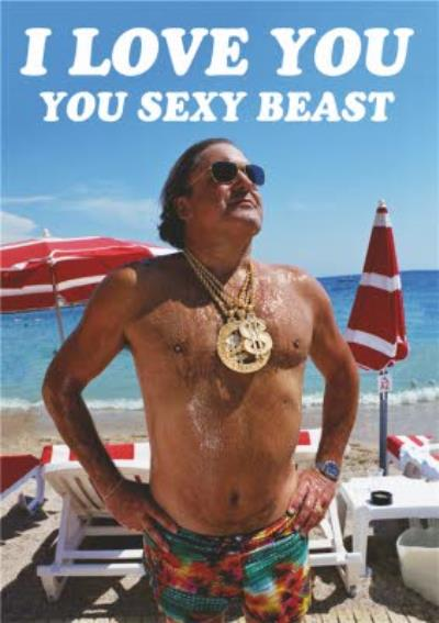 Dean Morris Sexy Beast Funny Valentine's Day Card