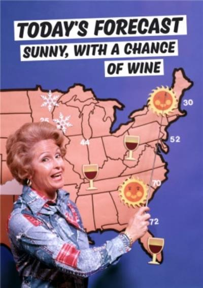 Dean Morris Wine Forecast Birthday Card