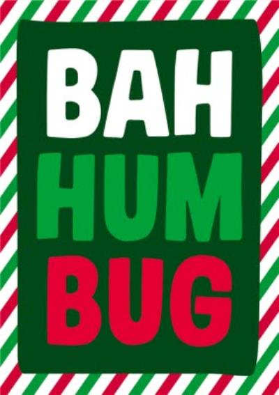 Dean Morris Bah Humbug Christmas Card