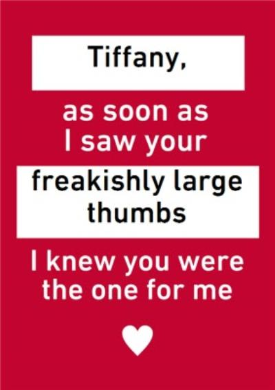 Funny Personalised Text Message Valentines Day Card