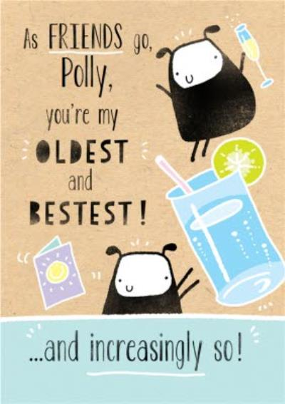 Deeply Sheeply oldest friend best friend Birthday Card