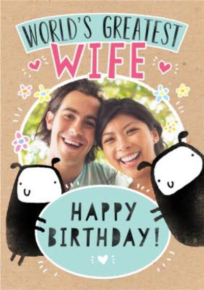 Worlds Greatest Wife Photo Upload Card