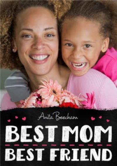 Mother's Day Card - Best Mum Best Friend - Photo Upload Card