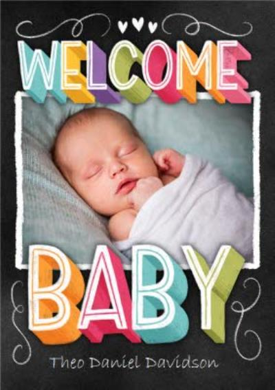 Welcome Baby Photo Upload Card