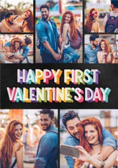 First Valentine's Day Multi Photo Upload Card