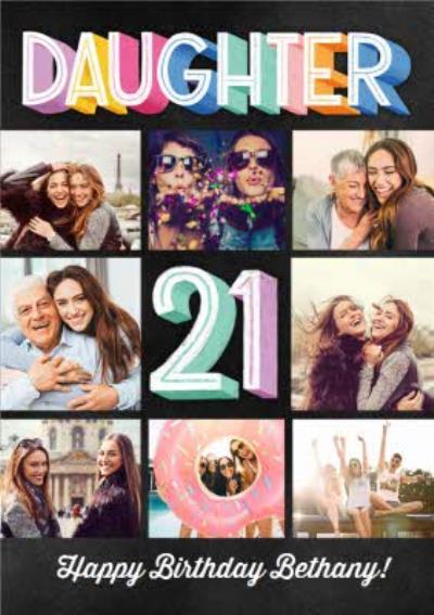 Photo Upload Happy 21 Birthday Daughter Card