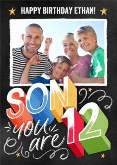 Photo Upload Happy 12 Birthday Son Card