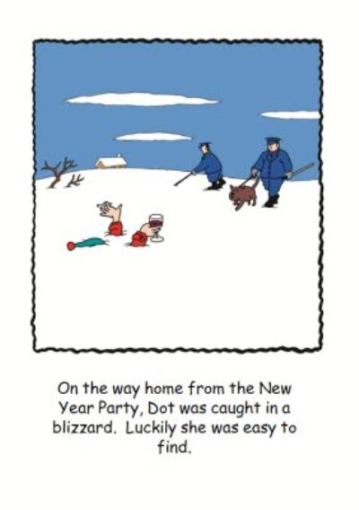 Caught In A Blizzard Funny Personalised Happy Christmas Card