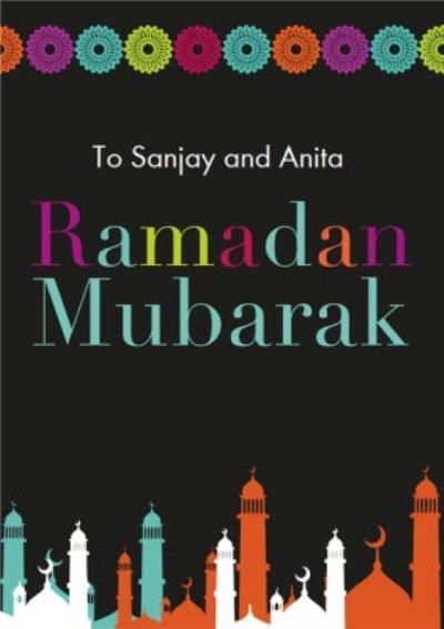 Eastern Print Ramadan Mubarak Card