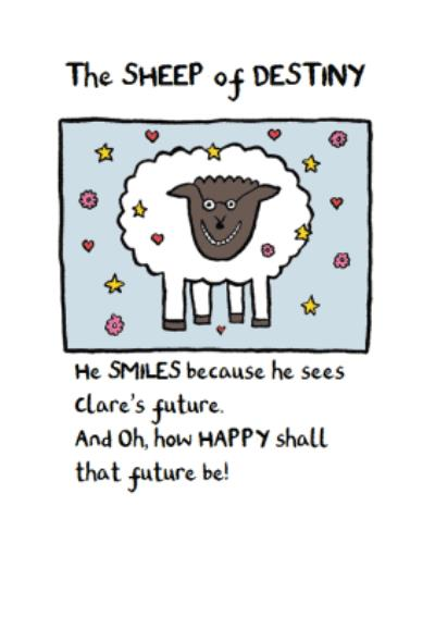 Personalised The Sheep Of Destiny Card