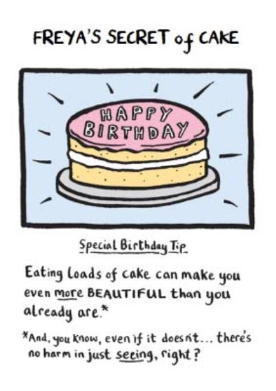 Edward Monkton Secret of Cake birthday card with verse