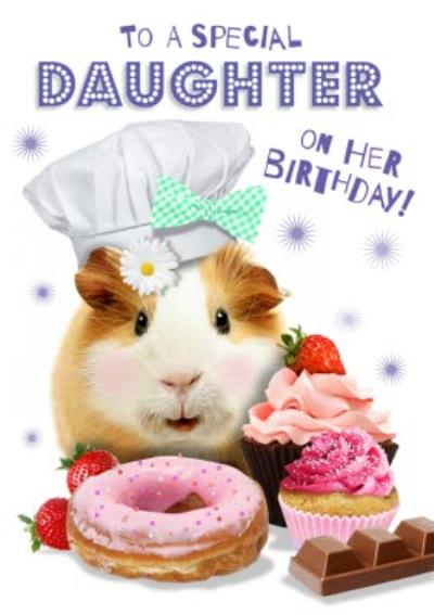 To A Special Daughter Guinea Pig Birthday Card