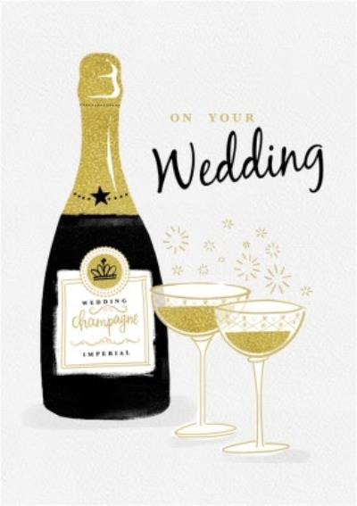 On Your Wedding Champagne Bubbles Card