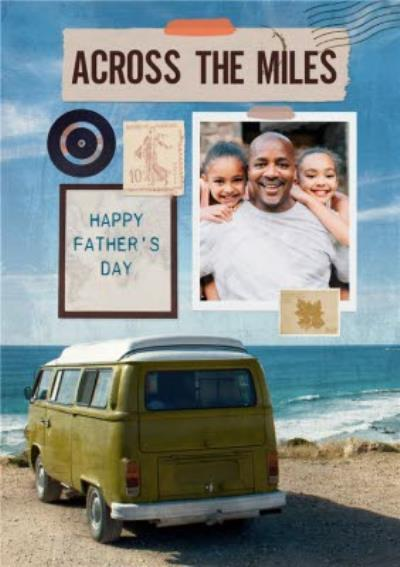 Photographic Caravan Across the Miles Photo Upload Father's Day Card