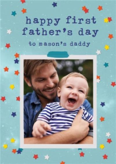 Photo Upload First Father's Day Card
