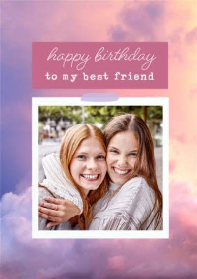 Modern Photo Upload Best Friend Happy Birthday Card