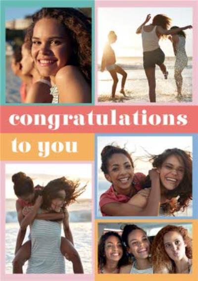 Euphoria Congratulations To You Photo Upload Card