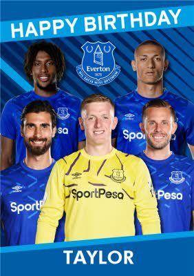 Birthday Card Everton Birthdays Love you Funny Birthday Card