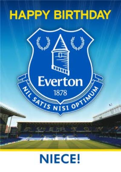 Everton Football Club Niece Birthday Card