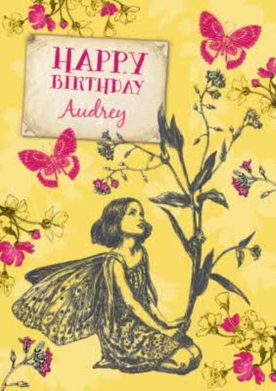 Illustrated Fairies Personalised Happy Birthday Card