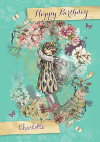 The Sloe Fairy Pretty Personalised Happy Birthday Card