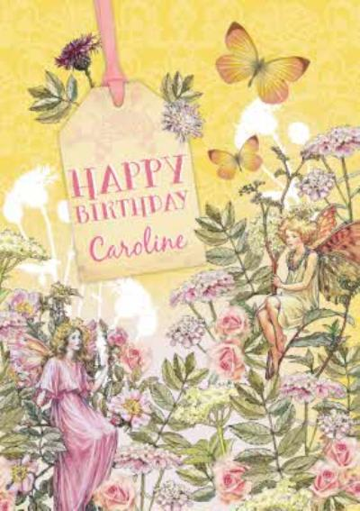 Wild Rose Fairy And Queen Fairy Personalised Happy Birthday Card