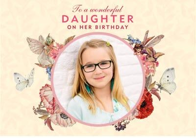 Flower Fairies Daughters Birthday Photo Upload Card