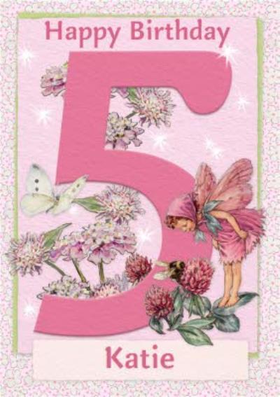 Flower Fairies 5th Birthday Card