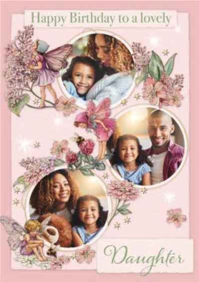 Flower Fairies Lovely Daughter Photo Upload Birthday Card