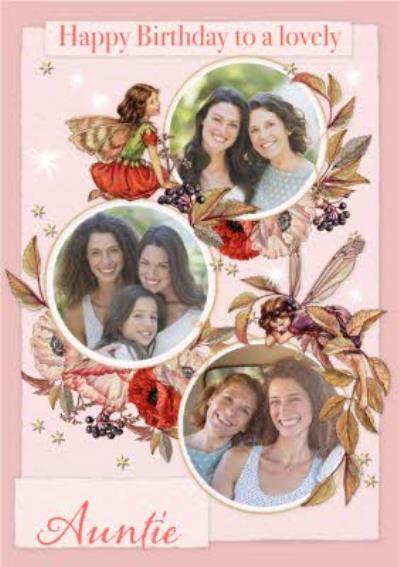 Flower Fairies Lovely Auntie Photo Upload Birthday Card