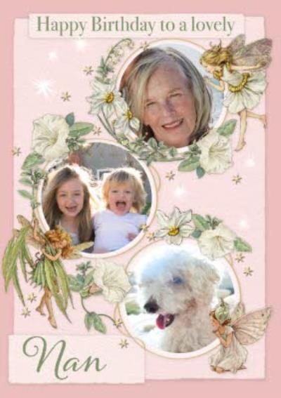 Flower Fairies Lovely Nan Photo Upload Birthday Car