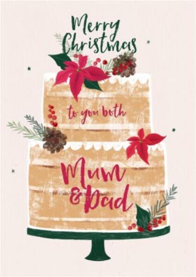 Merry Christmas To Yo Both Mum And Dad Christmas Card