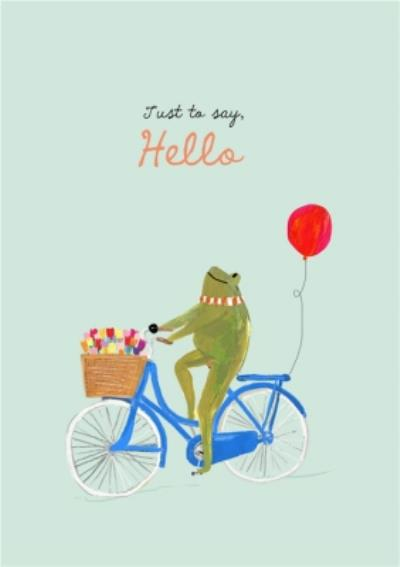 Frog On A Bike Personalised Just To Say Card