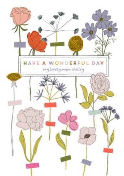 Birthday Card - Mum - Wonderful Day
